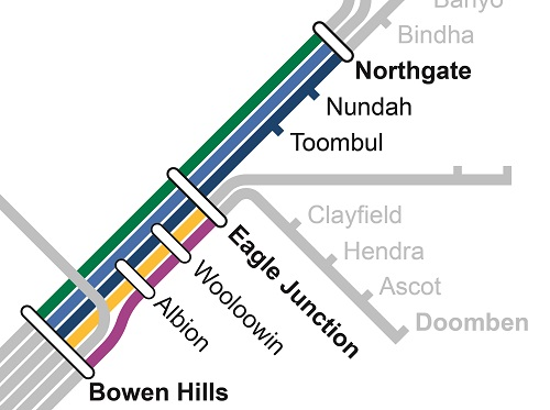 Inner north track closure map