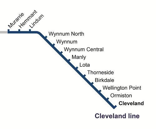 Murarrie to Cleveland track closure map