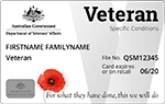 Sample of front of Veteran White card