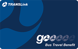 Front of go Bus Travel Benefit card