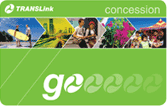 Image of bright green concession go card