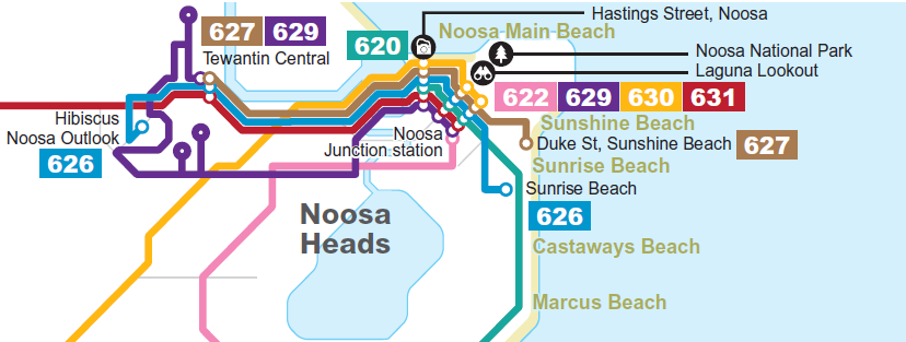 Map of Noosa routes